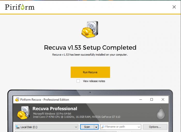 Download Recuva Offline Installer