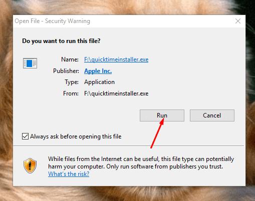 Installer: Quicktime Installer